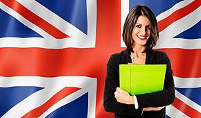 Frau-Englischflagge
